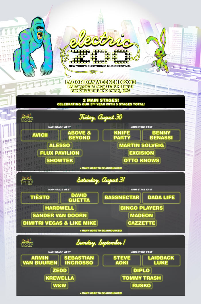 Electric Zoo is thrilled to  Electric Zoo 2014 Main Stage