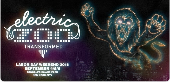 Electric Zoo: Transformed. Labor Day Weekend. September 4/5/6. Randall's Island Park. New York City