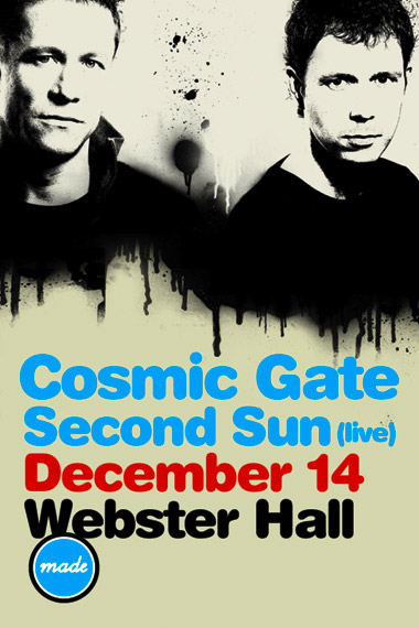 Cosmic Gate, Second Sun (live), December 14, Webster Hall
