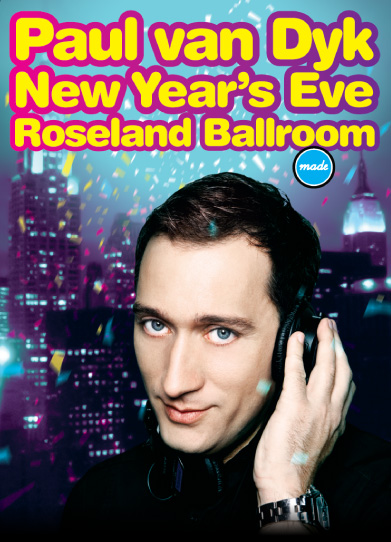 Paul van Dyk New Years Eve 2009 flyer