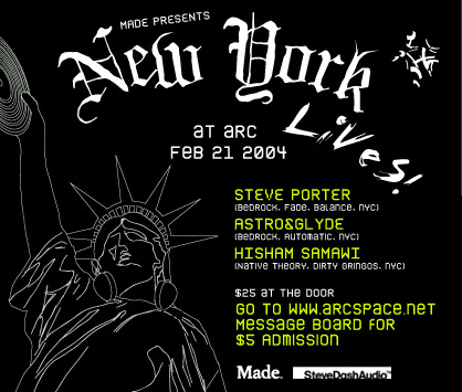 NEW YORK LIVES! flyer