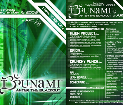 TSUNAMI: AFTER THE BLACKOUT flyer
