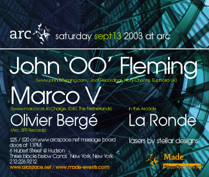 JOHN 00 FLEMING and MARCO V flyer