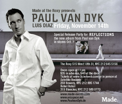 PVD AT THE ROXY flyer