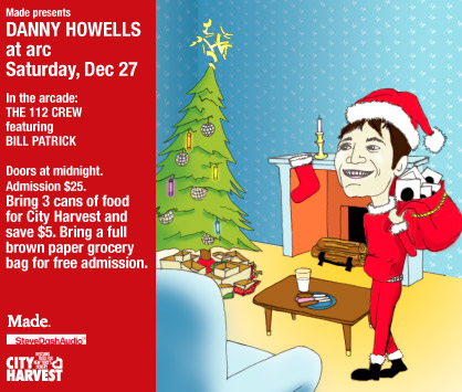 DANNY HOWELLS HOLIDAY PARTY flyer