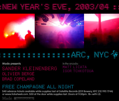 NEW YEARS EVE at arc flyer