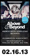 02.16.13: Above & Beyond with Andrew Bayer, Norin & Rad, and Beckwith at Roseland Ballroom