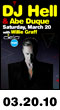 03.20.10: DJ Hell and Abe Duque with Willie Graff at Cielo