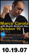 10.19.07: Marco Carola with Martin Buttrich Live at Cielo